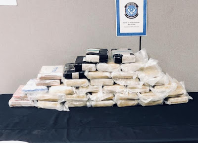 Guns, 3000 pounds of Drugs seized in Detroit.