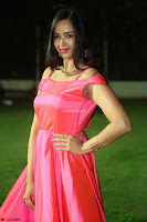 Actress Pujita Ponnada in beautiful red dress at Darshakudu music launch ~ Celebrities Galleries 093.JPG