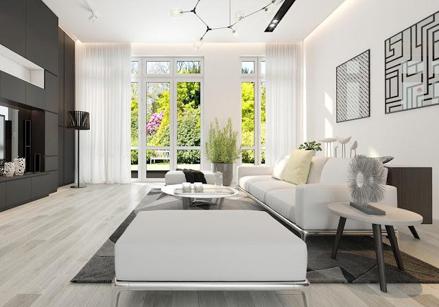 màu trắng trong thiết kế nội thất