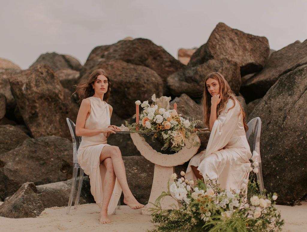 Topou Photography the other bridesmaid beach weddings floral design wedding cakes boho bridal gowns