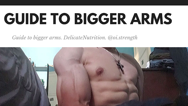 """Bicep, tricep training information for bigger arms """"Delicatenutrition"""""""