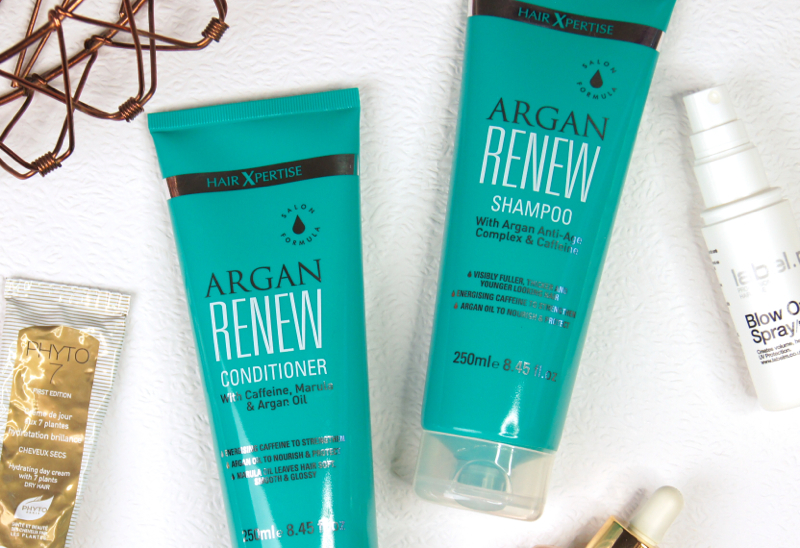 hair xpertise argan renew shampoo conditioner review anti-aging nourishing lightweight haircare