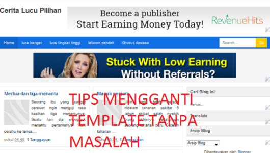Tips mengganti template blog