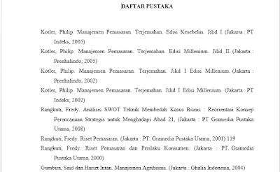 Panduan Contoh Menulis Daftar Pustaka