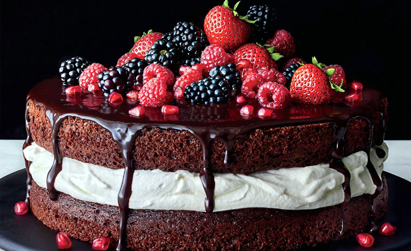 Decadent Chocolate-and-Cream Layer Cake