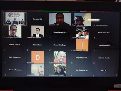 Diskusi Virtual Kementerian Sosial Bahas Cara NTB Tangani Bencana