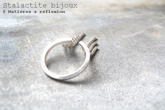 Bague argent chaînes Stalactite bijoux Cascade