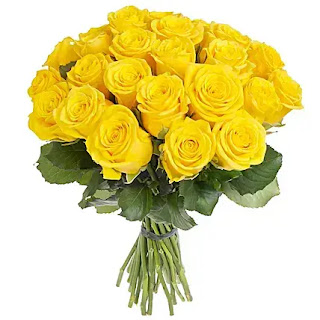 باقة ورد اصفر جوري جميلة ، صور باقة ورد