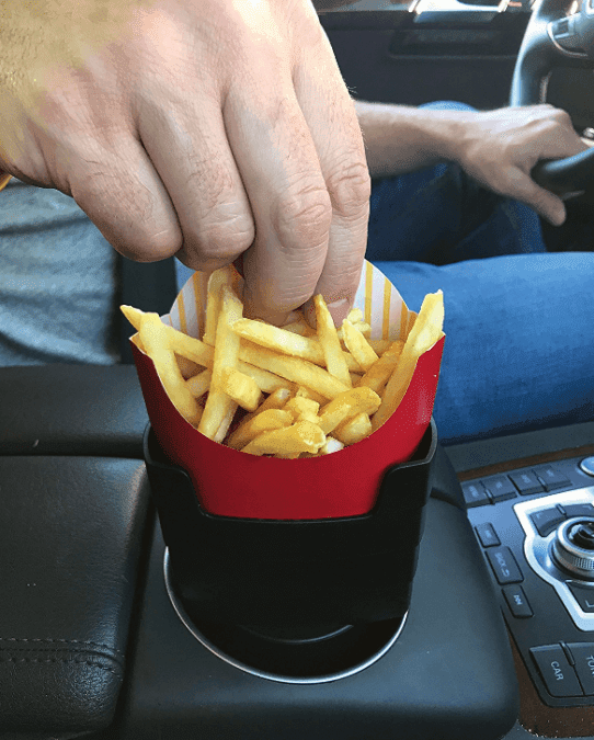 36 Genius Yet Inexpensive Products That Can Save Lives - Keep Your Fries Handy with This Car French Fry Holder