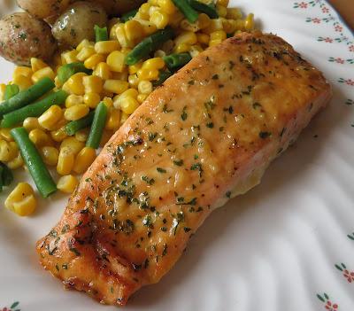 Honey, Mustard & Garlic Salmon