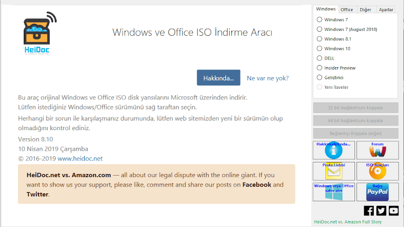 Microsoft Windows ve Office ISO Download Tool v8.24 İndir