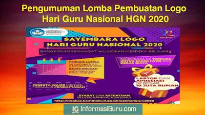 Pengumuman Sayembara Lomba Pembuatan Logo Hari Guru Nasional/ HGN  Tahun 2020