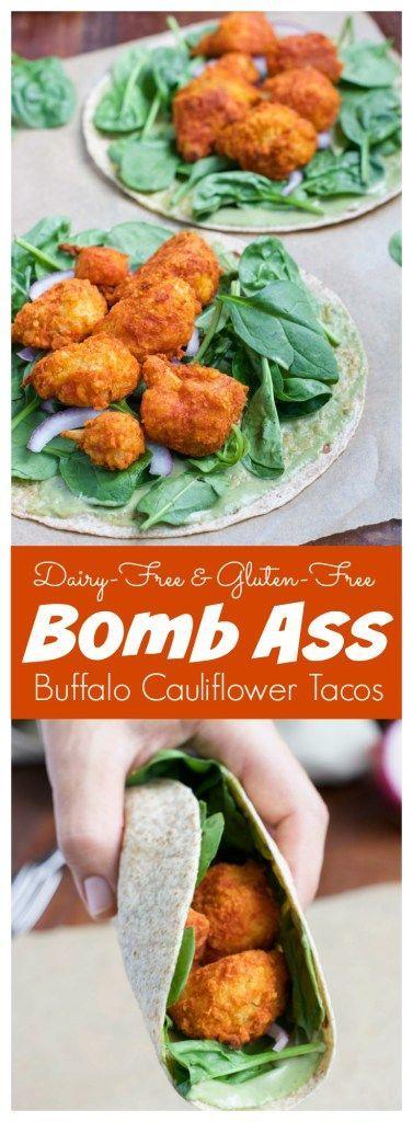 Bomb Ass Buffalo Cauliflower Tacos #VEGETARIAN