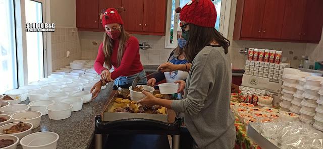 Ναύπλιο: Γεύμα αγάπης για 170 άπορους ανήμερα των Χριστουγέννων από το Συσσίτιο Ευαγγελίστριας