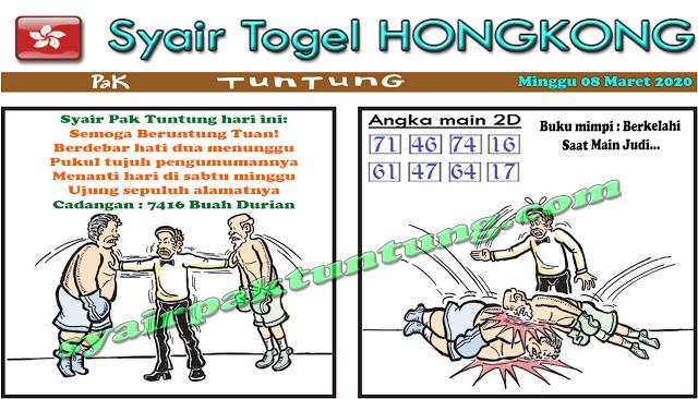 Prediksi Togel HK Minggu 08 Maret 2020 - Prediksi Pak Tuntung
