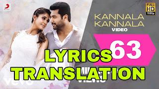 Kannala Kannala lyrics in English | With Translation | – Thani Oruvan