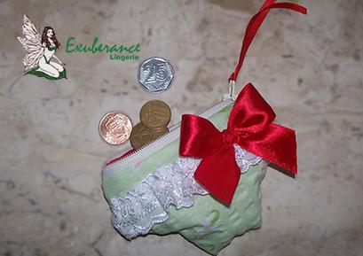 Mini calcinha  porta moedas - Exuberance Lingerie