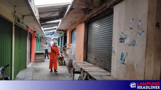 Pedagang Positif Covid 19, Pasar Kotaagung Di Tutup Selama 3 Hari, Hasil Tracing Rapid test Masal