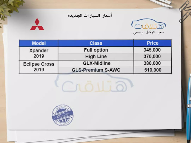 Mitsubishi Prices in Egypt