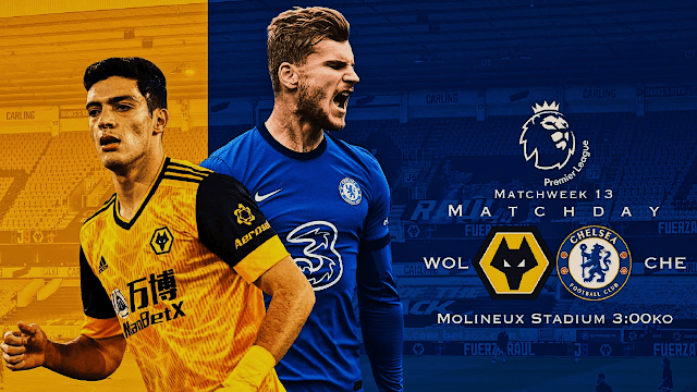 Wolves vs Chelsea Premier League 20/21 Gameweek 13
