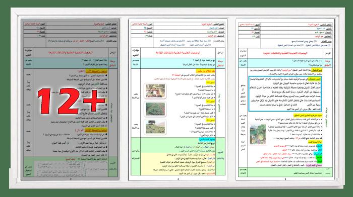 مذكرات المقطع الثالث الأسبوع الثاني في اللغة العربية للسنة الثانية ابتدائي