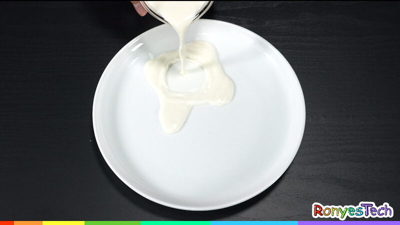 Milk Painting for Christmas Step 1