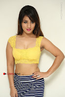 Cute Telugu Actress Shunaya Solanki High Definition Spicy Pos in Yellow Top and Skirt  0030.JPG