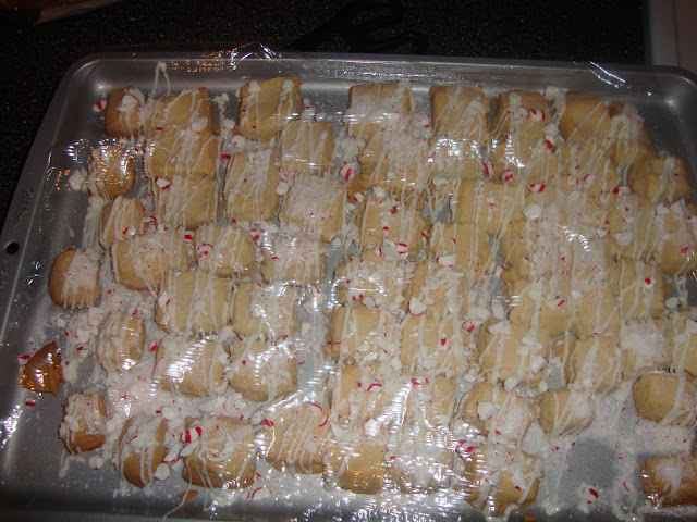 Tray Of Peppermint Shortbread Cookies
