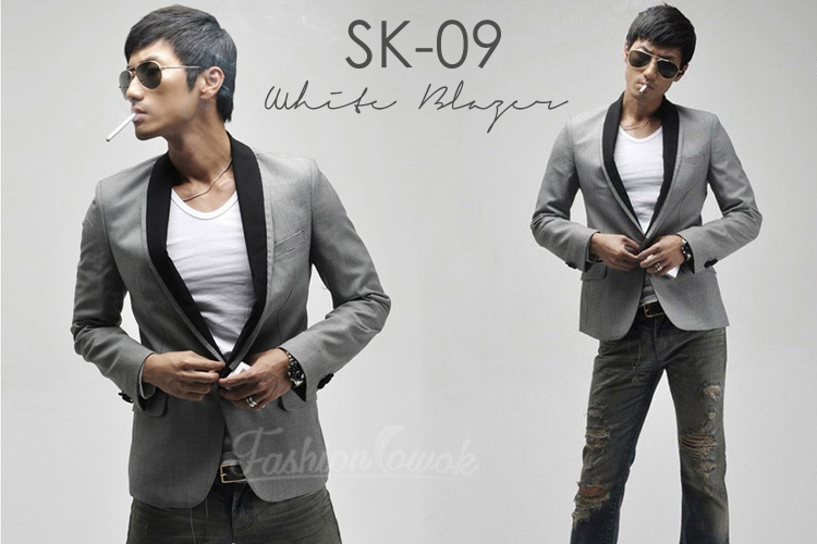 blazer warna abu gray