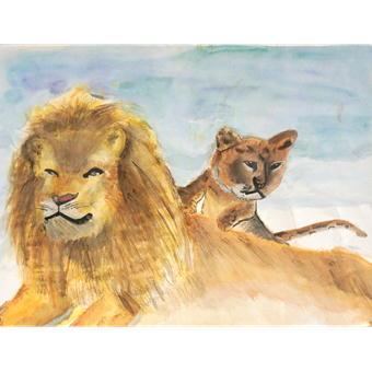 福岡市動物園ブログ 動物画コンクールの入選作品を展示しています