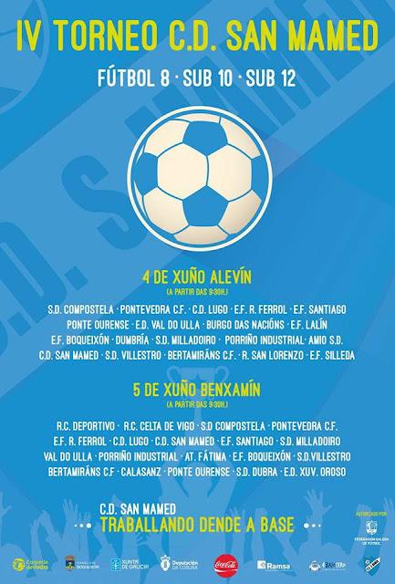 Torneo C.D. San Mamed 2016 Alevín y Benjamín: Equipos y horarios
