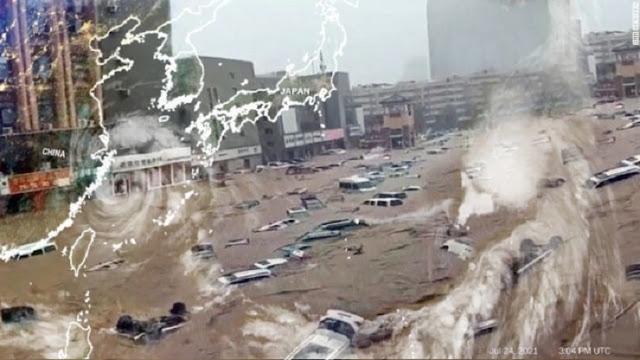 Setelah Dilanda Banjir Parah, Kini China Diterjang Topan In-fa