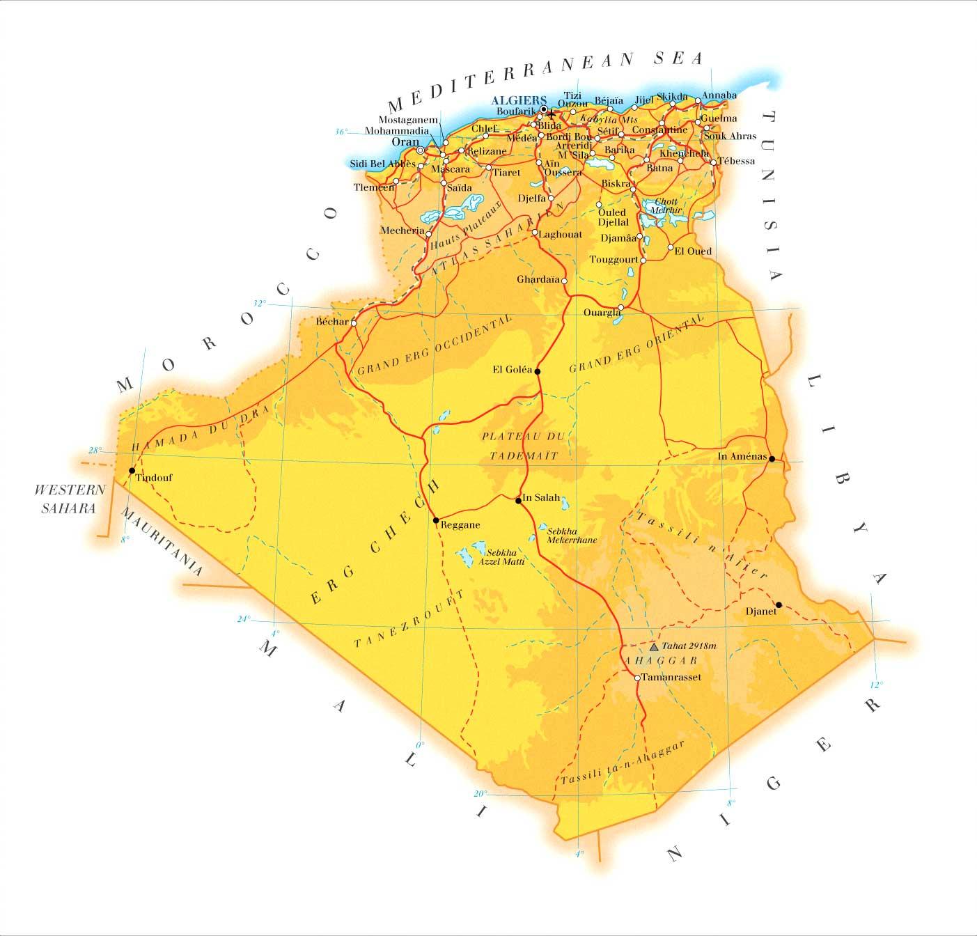 Argélia | Mapas Geográficos da Argélia