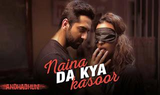Naina Da Kya Kasoor Lyrics in Hindi