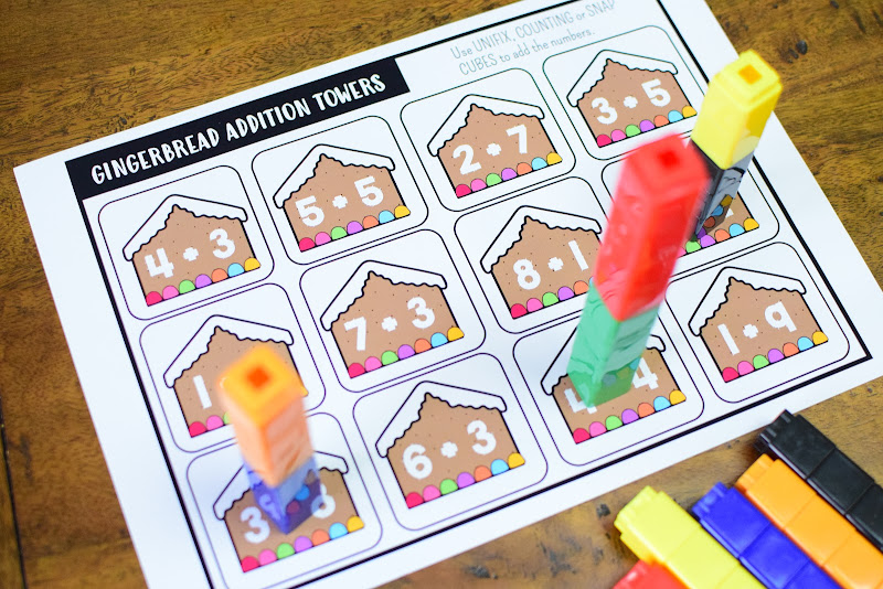 FREE GINGERBREAD ADDITION TOWERS PRINTABLE