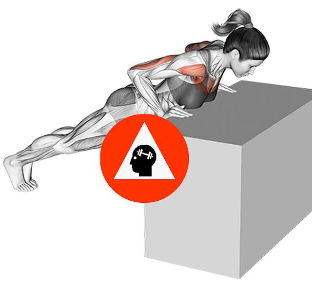 musculation exercice pompes surélévées débutant