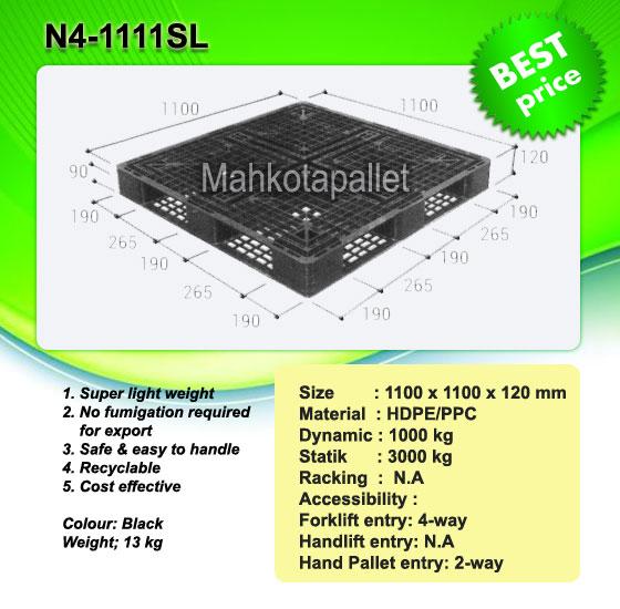 Pallet Plastik N4-1111SL