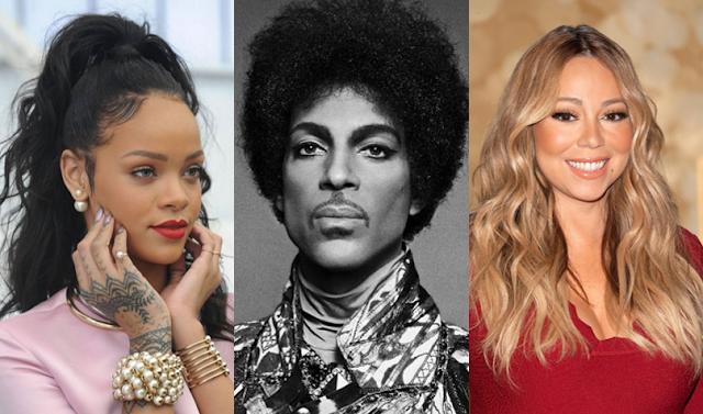 Mariah Carey y Rihanna le rindieron homenaje a Prince en sus shows.