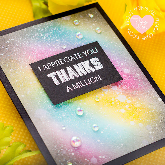 Thank You Galaxy Inspired Card | Spellbinders FSJ Stamp of the Month | March 2020