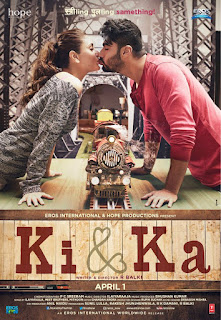 Ki & Ka, Movie Poster, starring Arjun and Kareena Kapoor, directed by R. Balki