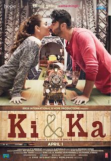Ki & Ka, Movie Poster, starring Arjun and Kareena Kapoor, directed by R. Balki