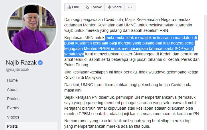 FB Najib