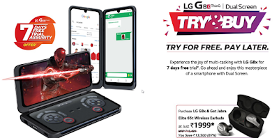 LG's 7-days free trial Offer on G8X Dual Screen in India -Try&Buy