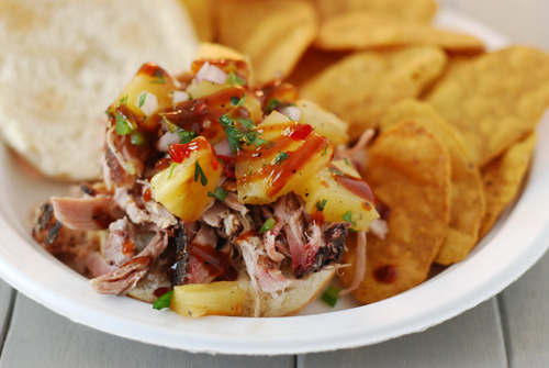 Jerk pork shoulder with pineapple salsa, big green egg pork recipe, kamado grill pork shoulder recipe, pork butt recipe