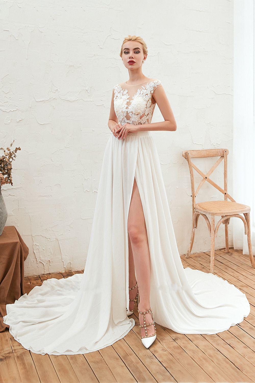 beautiful wedding dress for rustic ceremony
