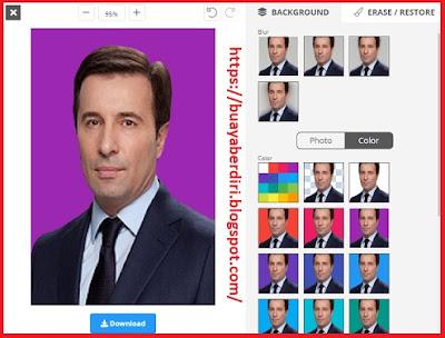 Mengubah background foto menjadi warna Ungu