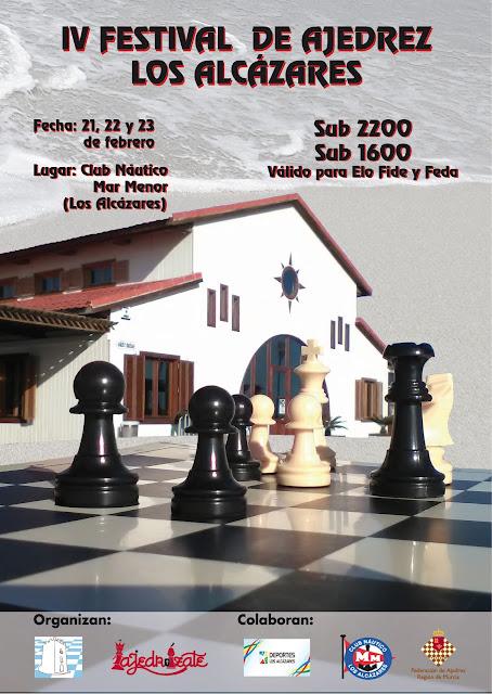 IV Festival e Ajedrez Los Alcázares Sub2200 y Sub1600 (21-23 Febereo 2019)