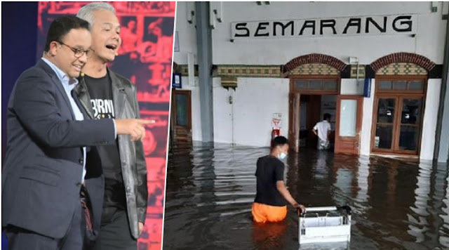 Semarang Banjir, Nama Anies Trending Topic, Warganet: Pak Anies Gak Becus Kerja!
