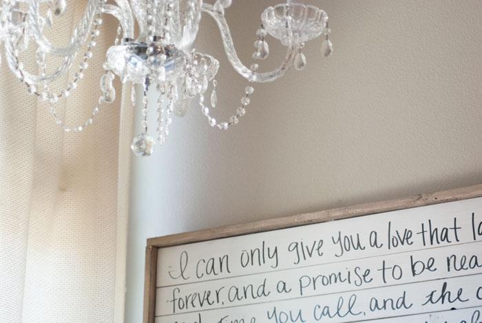 DIY Farmhouse Sign with Handwritten Wedding Song Lyrics | VINTAGE ...