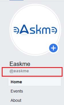 example custom facebook page url: Facebook Page Optimization Guide: How to Optimize FB Page: eAskme